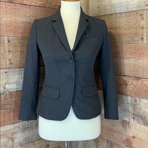 ANN TAYLOR Gray Button Front Blazer Suit Jacket
